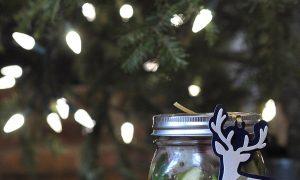 jar of pickles under the Xmas tree